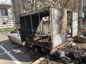 пожар фургона
