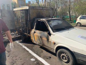пожар грузового автомобиля